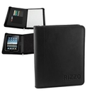 Custom Mobile Office Universal Tablet Leather Zipper Portfolio, 10 1/2