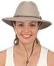 Custom Vintage Washed Cotton Aussie Hat with Chin Cord