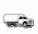 Custom Truck Notekeeper Magnet - 20 Mil Process Color (1 5/8