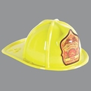 Custom Yellow Plastic Jr Firefighter Fire Department Hat (CLEARANCE)