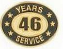 Custom Stock Die Struck Pin (46 Years Service)