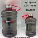 Custom Jumbo Sports Water Bottle, 2.1 LT/ 73 OZ- Stainless Cap *Customize this bottle style (body), 10.5