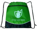 Custom Drawstring Backpack W/Zippered front Pocket, 17