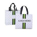 Custom Non-woven Stripe Coated Bag, 17 3/4