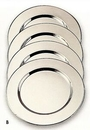 Custom Silver Plated Metal Round Charger/ Plate - 4 Piece Set (11 3/4