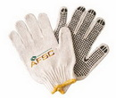 Custom Cotton Work Gloves W/ Rubber Grip Dots