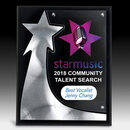 Custom The Rising Star Plaque - 4 Color Process, 8