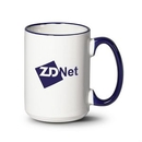Custom Clancy Mug - 15oz White/Cobalt