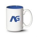 Custom Lucian Mug - 15oz White/Ocean Blue