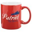 Custom 11 Oz. 2-Tone Ceramic Mug / Contrast Interior (Red/ White)