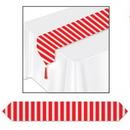 Custom Red & White Stripes Table Runner, 11