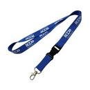 Custom Polyester Lanyard W/ Breakaway Release Attachment & Bulldog Clip, 36