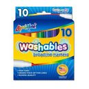 Blank 10 Pack Washable Broadline Markers - Assorted Colors - Made In The Usa
