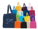 Custom Economy Cotton Shopping Tote With Self Handles