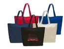 Custom Jumbo Cotton Tote Bag with Velcro Closure