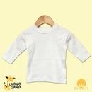 Custom The Laughing Giraffe Long Sleeve Cotton Baby T-Shirt w/Crew Neck