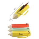 Custom Pencil Shape Silicone Pen Bag, 2
