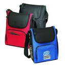Custom Deluxe Insulated Poly Lunch Bag Cooler with Shoulder Strap & Pockets