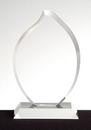 Custom Flame Award - Optic Crystal (8 1/4