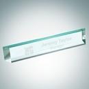 Custom Slant Beveled Optical Crystal Nameplate
