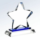 Custom Crystal Blue Twinkle Star Award w/ Crystal Base, 6