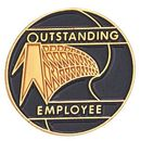 Blank Recognition Award Lapel Pins (Outstanding Employee), 3/4