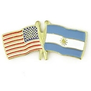 Custom Usa & Argentina Flag Pin, 1 1/8