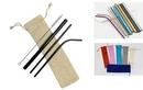 Custom 4 pieces set colorful Stainless Steel Straw With Cleaning Brush, FREE SHIPPING!, 8.5