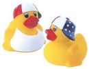 Custom Rubber Patriotic Duck, 3 1/2
