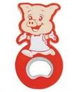 Custom Cartoon Pig Shape Bottle Opener with Magnet