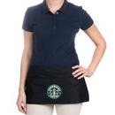 Custom Black 3 pockets ployester waist apron