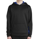 Custom Sport-Tek Youth Sport-Wick Fleece Colorblock Hooded Pullover