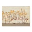 Custom Thankful Forest Greeting Card, 7.875