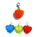 Custom Heart Clip-On Flashing Emergency LED Warning Light w/Lobster Clasp, 1.6