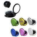 Custom Mini Folding Pocket Hair Comb with Mirror