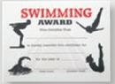 Custom Stock Certificate (Swimming)