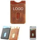 Custom New high quality pu phone wallet card sleeve, 2.2