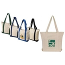 Custom 12 oz 100 percent Cotton Boat Tote Bag, 18.5