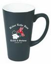 Custom 16 Oz. Executive Matte Dark Color Ceramic Funnel Mug w/ White Interior