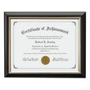 Custom Trent Certificate Frame - Black/Gold 81/4