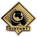 Custom School Pin - History, 1