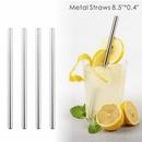 Custom 0.40 Inch Wide Straight Metal Straws, 8.5 Inch Length, 0.40 Inch Diameter, 215*10 MM, 0.40