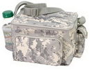 Custom Digital Camouflage 6 Pack Cooler with Phone Pouch & Mesh Bottle Holder