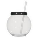 Custom 46 Oz. Fish Bowl Cup With Straw, 5