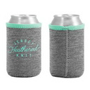 Custom Liam Heathered Jersey Knit-Neoprene Can Insulator, 4.25