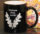 Custom Black Nuvo Coffee Mug, 3 13/16