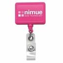 Custom Rectangle Hot Pink Badge Reel (Polydome), 1.5