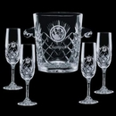 Custom Cavanaugh Cooler & 4 Flutes Glasses