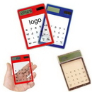 Custom Transparent Solar Touch Screen Calculator, 4 3/4