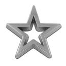 Custom Star - Silver 3-D Cut-Out Pin, 7/8